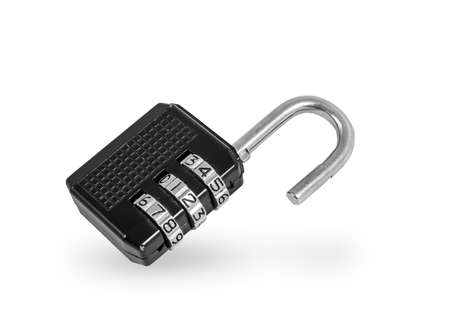 isolated padlock with code