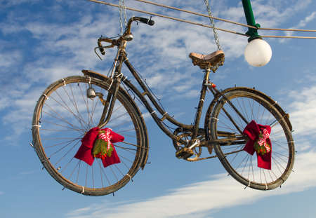 Christmas bicycle photo