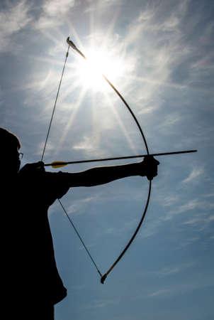 archery: Archery silhouette