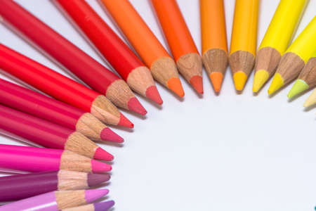 Circle with Colorful Crayons photo