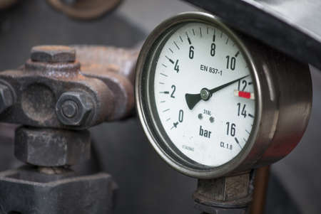 analogous: Scale to Measure Pressure Stock Photo
