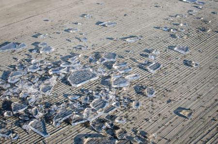 Shards Of Smashed Ice Stock Photo