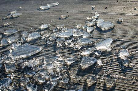 shards: Shards Of Smashed Ice Stock Photo