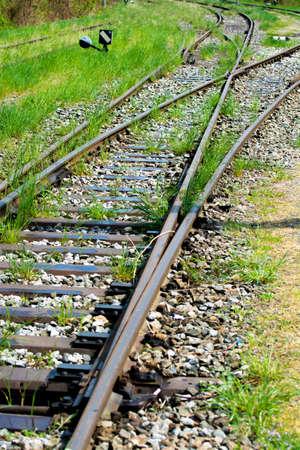railway points: Old Train Tracks