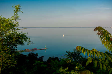 balaton: Lake Balaton And Sailboat