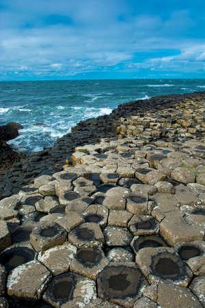 northern ireland: Giants Causeway in Northern Ireland Stock Photo