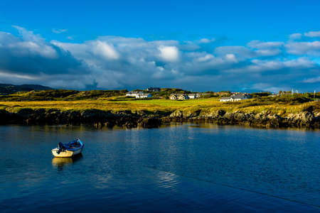 Remote Village and Harbor near Donegal in Ireland