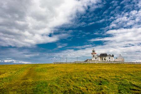 Lighthouse On Loop Head Peninsula  In Ireland
