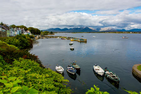 Harbor Of Roundstone In Ireland