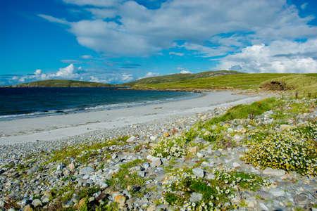 connemara: Remote White Sand Beach in Connemara in Ireland
