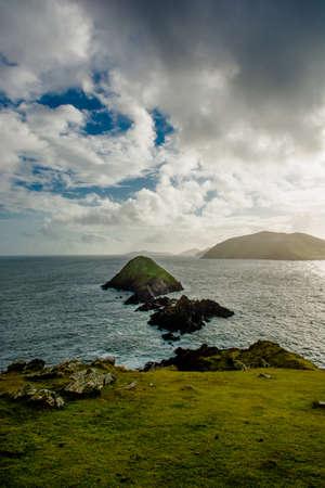 blasket islands: Coast Of Slea Head in Kerry In Ireland