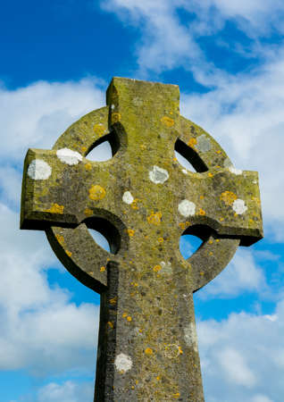 celtic cross: Weathered Celtic Cross Stock Photo