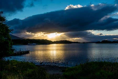 lough: Twilight at Lough Leane in Ireland Stock Photo