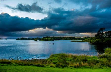 lough: Boat on Lough Leane in Killarney National Park in Ireland