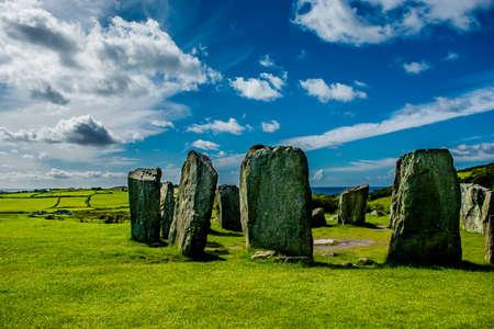 Drombeg Stone Circle at the Coast of Ireland