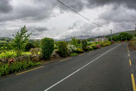 garden settlement: Abandoned Street in the Countryside of Ireland