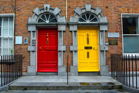 differ: Colorful Doors in Kilkenny in Ireland Stock Photo