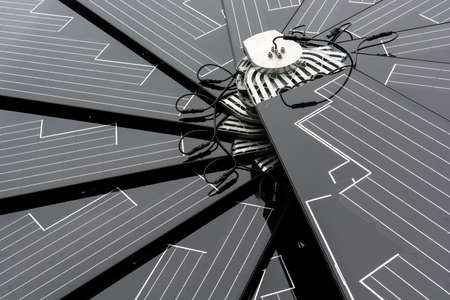 Detail of a solar panel