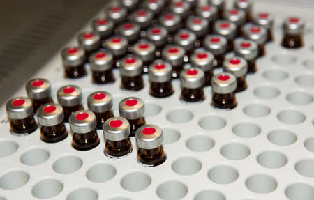 vials: Sample Vials in Laboratory Stock Photo