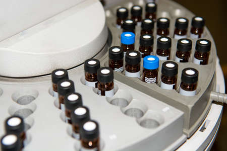 vials: Centrifuge with Sample Vials in Laboratory