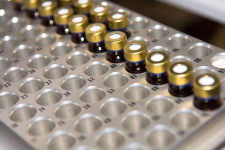 sample: Sample Vials in Laboratory Stock Photo