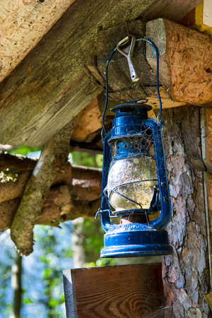 oil lamp: Old Oil Lamp with Cobwebs Stock Photo