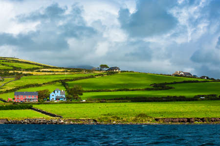 Scenic Settlement at Atlantic Coast of Ireland
