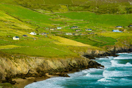 Settlement at the Coast of Slea Head in Ireland