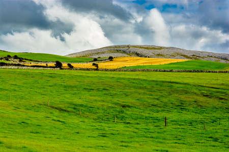 burren: Landscape the Burren in Ireland Stock Photo