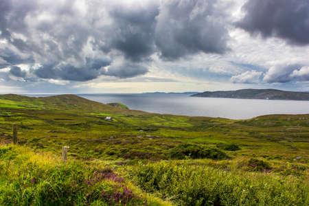irish countryside: Scenic Landscape at the Coast of Ireland