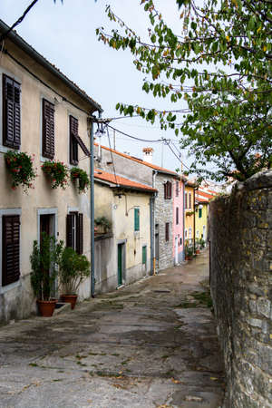 Narrow Alley in Labin in Croatia