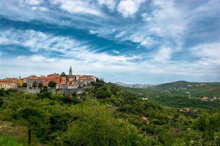City of Labin in Istria in Croatia Stock Photo