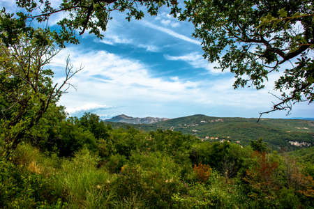 Mediterranean Landscape near Rabac in Croatia Stock Photo