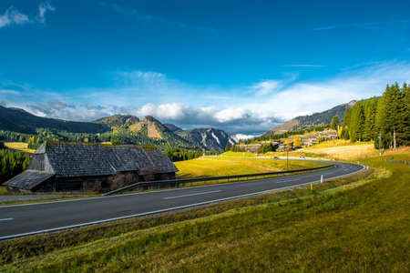 Rural Landscape with Mountains in Austria