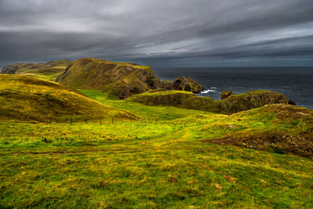 Coastal Trail At The Spectacular Atlantic Cost On St. Abbs Head in Scotland Reklamní fotografie