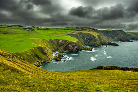 Spectacular Atlantik Coast And Cliffs At St. Abbs Head in Scotland