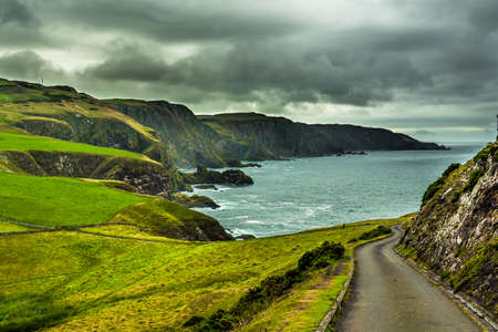 Spectacular Atlantic Coast And Cliffs At St. Abbs Head in Scotland