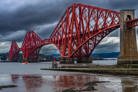 Firth Of Forth Railway Bridge Near Edinburgh in Scotland