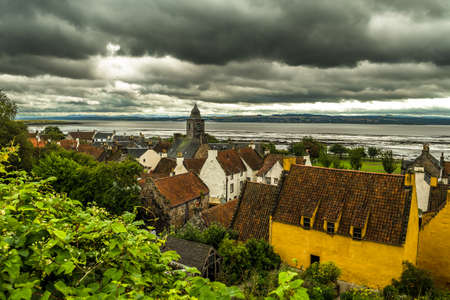 City Of Culross With Culross Palace And Garden In Scotland