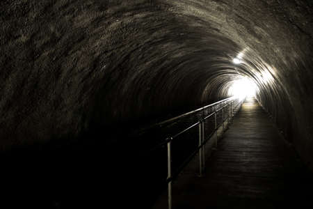 Bright Light At The End Of A Dark And Creepy Tunnel