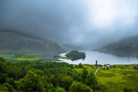 Glenfinnan Monument At Loch Shiel In Scotland