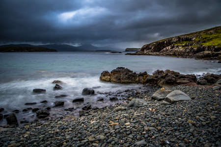 Atlantic Waves At Stone Coach On The Isle Of Skye In Scotland