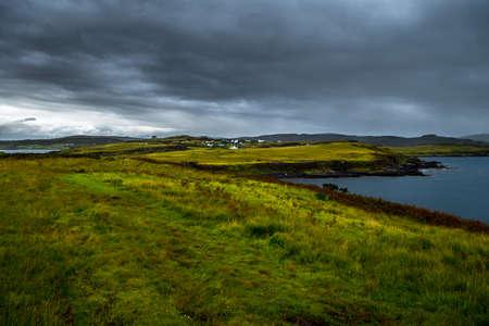 Scenic Village At Atlantic Coast On The Isle Of Skye In Scotland