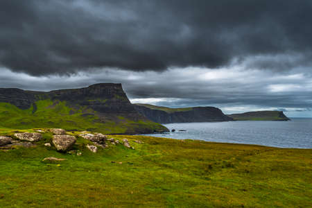 Spectacular Cliffs At Neist Point At The Coast Of The Isle Of Skye In Scotland