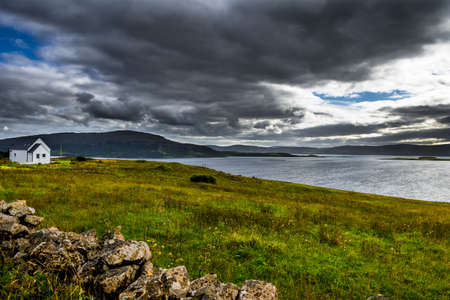 Lonesome House At The Scenic Coast Of The Isle Of Skye In Scotland