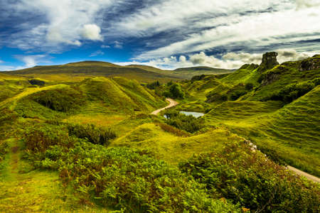 Scenic And Mysterious Fairy Glen Near Uig On The Isle Of Skye In Scotland