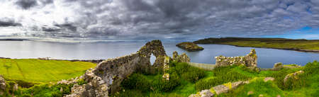 Ruin Of Duntulm Castle At The Scenic Coast Of The Isle Of Skye In Scotland