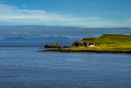 Lonesome House In Rural Landscape At The Coast Of The Isle Of Skye In Scotland