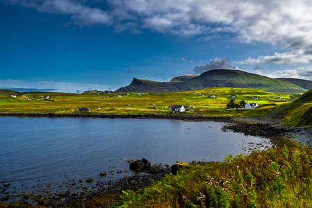 Scenic Village In Rural Landscape At The Coast Of The Isle Of Skye In Scotland Reklamní fotografie