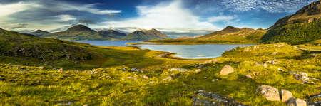 Scenic Coastal Landscape With Remote Village Around Loch Torridon And Loch Shieldaig In Scotland